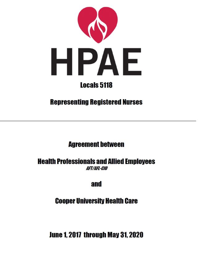 Local 5118 RN Contract 2017-2020 - Health Professionals