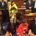 Democrats stage sit-in on House floor over gun control vote