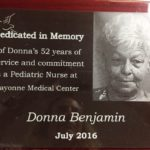 Donna Benjamin Honored for Her 52 Years of Service at Bayonne Medical Center