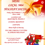 Christmas Social Event Set for December 1st, Luncheon Education Day Postponed
