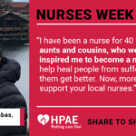 HPAE Celebrates Nurses Week 2020 by Honoring Members in Social Media Posts about their Inspiration to Serve