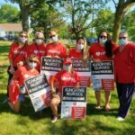 Covid-19 pandemic frontline nursing heroes  held informational picket to demand respect, protections and recognition for their heroic work